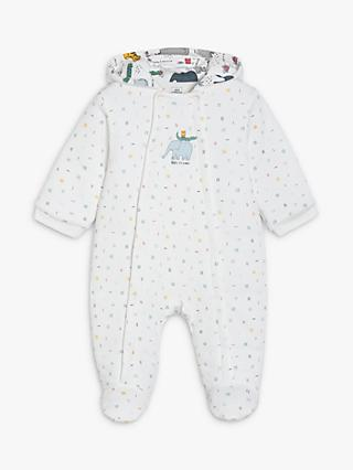 Mini Cuddles Baby Elephant Hooded All-In-One, Multi