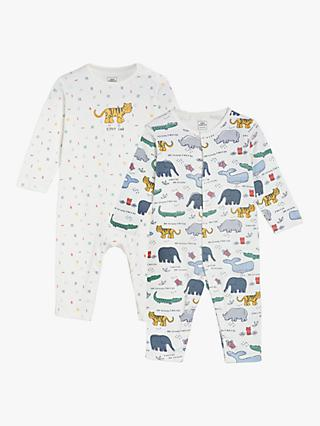 Mini Cuddles Baby Animals Romper, Pack of 2, Multi