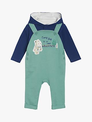 Mini Cuddles Baby Woodland Dungarees & Top Set, Green