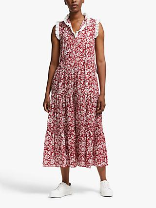See By Chloé Printed Maxi Dress, Red