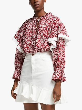 See By Chloé Printed Blouse, Red