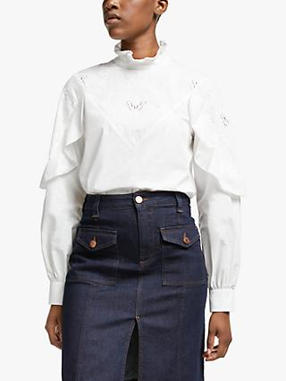 See By Chloé Frill Detail Blouse, White