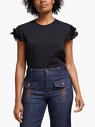 See By Chloé Sleeve Detail Top, Black