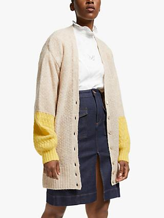 See By Chloé Contract Stitch Detail Cardigan, Natural