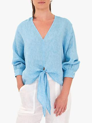NRBY Anya Linen Tie Front Shirt