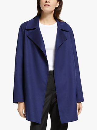 Theory Relaxed Luxury Wool Coat, Bright Navy