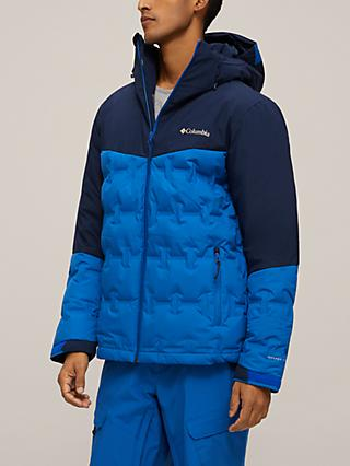 Columbia Wild Card Men's Waterproof Ski Jacket, Bright Indigo/Collegiate Navy