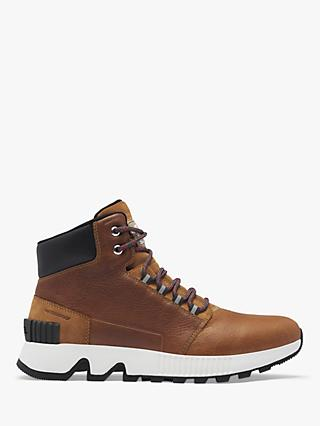 SOREL Mac Hill Leather Waterproof Mid Sneaker Style Boots, Brown
