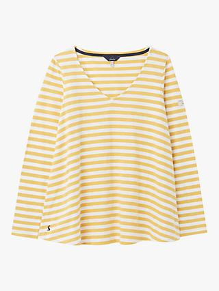 Joules Harbour Stripe Jersey Top, Mustard