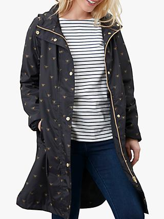 Joules Waybridge Bee Raincoat, Black