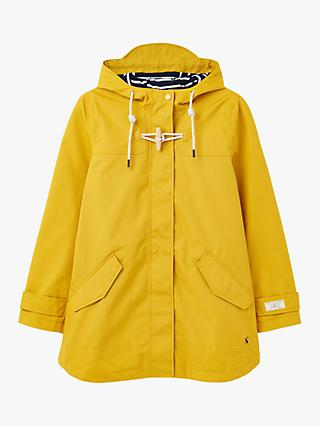 Joules Coast Mid Waterproof Coat, Antique Gold