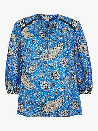 Monsoon Paisley Blouse, Blue