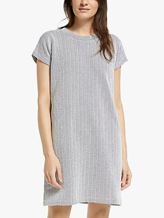 Club Monaco Stripe T-Shirt Dress, Navy/White