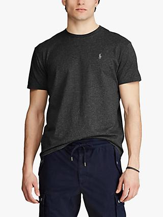 Polo Ralph Lauren Short Sleeve Custom Fit Crew Neck T-Shirt, Black Marl