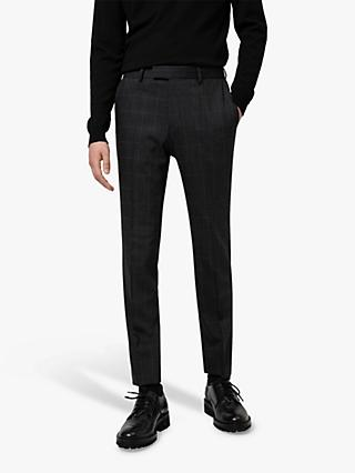 HUGO by Hugo Boss Anfred204 Prince of Wales Check Washable Suit Trousers, Charcoal