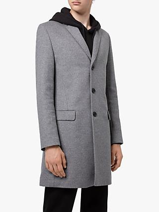 HUGO by HUGO BOSS Migor1941 Wool Cashmere Coat, Medium Grey