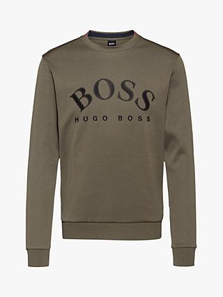 BOSS Salbo Logo Sweatshirt, Dark Green
