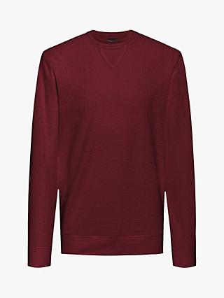 BOSS Weich Crew Neck Sweatshirt, Dark Red