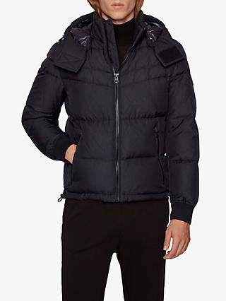 BOSS Olooh Padded Puffer Jacket, Black