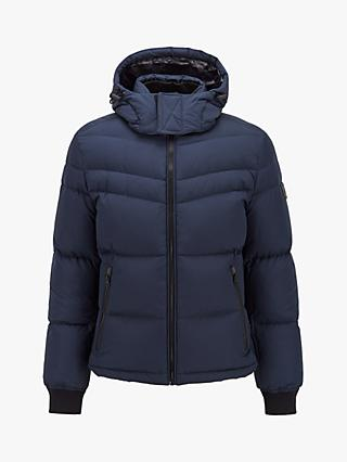BOSS Olooh Padded Puffer Jacket, Dark Blue