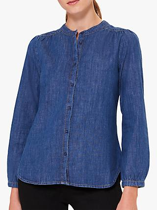 Hobbs Chloe Denim Shirt, Blue