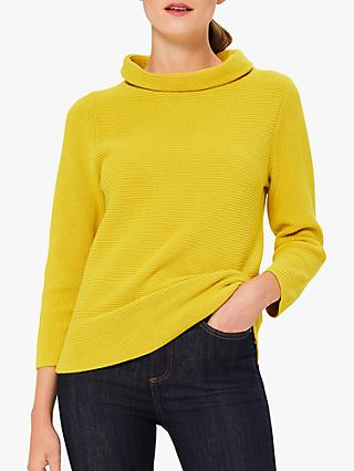 Hobbs Isabella Cotton Knit Sweatshirt, Sulphur