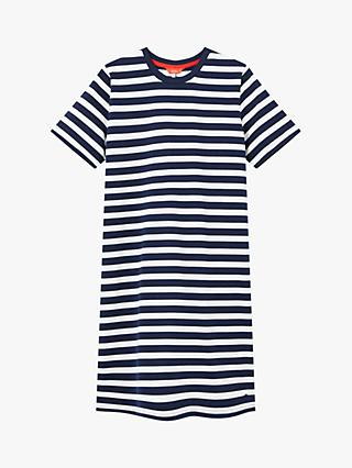 Joules Liberty Striped Jersey Dress, Navy/Multi