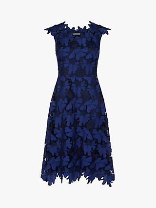 Finery Dorset Lace Dress, Blue