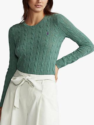 Polo Ralph Lauren Julianna Classic Long Sleeve Sweater, Green