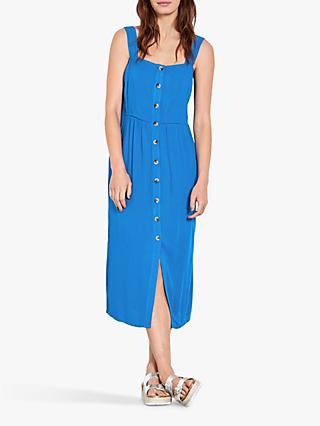 hush Cossura Button Down Cotton Sun Dress, Victoria Blue
