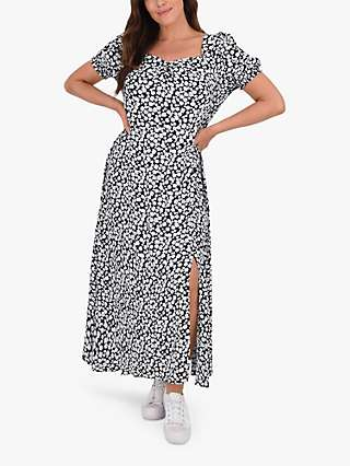 Live Unlimited Curve Ditsy Floral Maxi Dress, Black/White