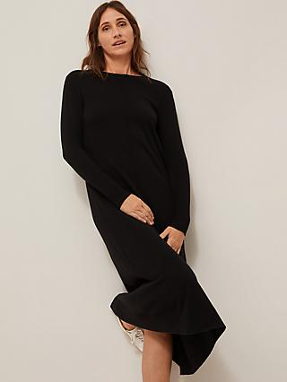 Modern Rarity Wool Cashmere Blend Knit Dress, Black