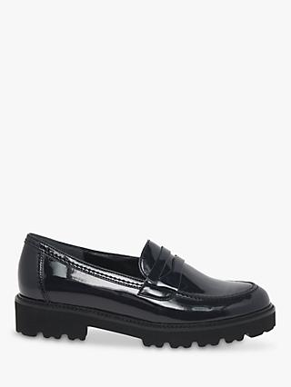 Gabor Simone Patent Leather Penny Loafers, Navy