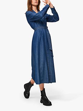Selected Femme Miranda Denim Dress, Blue