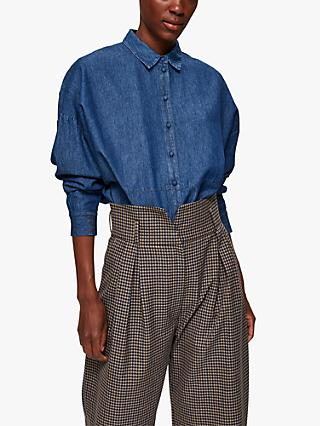Selected Femme Miranda Denim Shirt, Blue