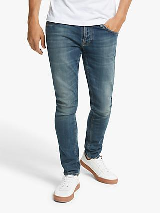 Nudie Jeans Slim Tight Terry Jeans, Dark Beach
