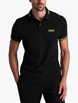 Barbour International System Tipped Polo Shirt, Black