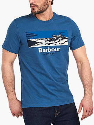 Barbour Benson Graphic Print Tee, Dark Denim