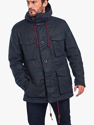 Barbour Ordel Wax Jacket, Navy