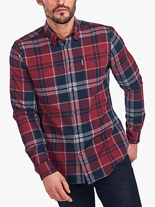 Barbour Bidston Check Chest Pocket Shirt, Ruby