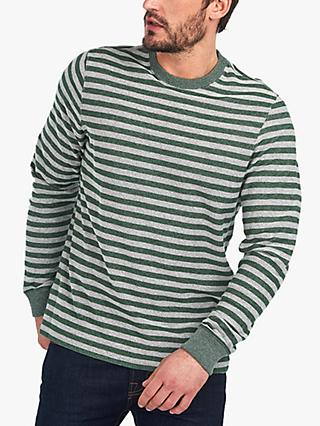 Barbour Radar Long Sleeved Striped Tee, Forest