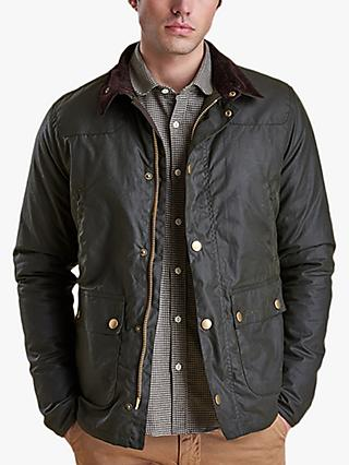 Barbour Reelin Wax Jacket, Sage