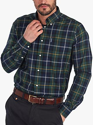 Barbour Wetheram Tartan Shirt, Seaweed Green