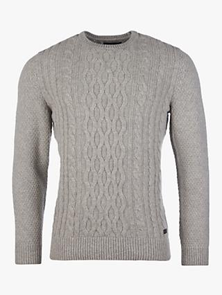Barbour Chunky Cable Knit Crew Neck Jumper