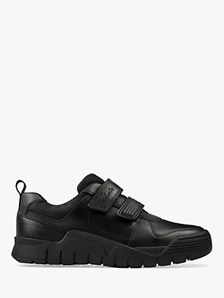 Clarks Children's Scooter Speed School Shoes, Black