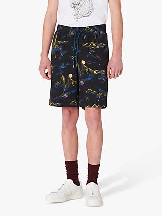 PS Paul Smith Abstract Mountain Print Shorts, Black/Multi