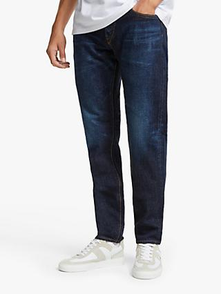 Edwin Made in Japan Regular Fit Tapered Jeans, Dark Used Blue