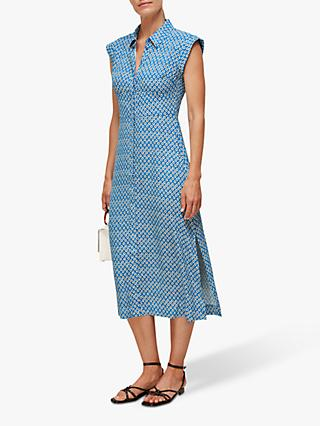 Whistles Astrix Floral Dress, Blue