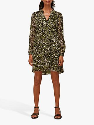 Whistles Jungle Print Tunic Dress, Khaki