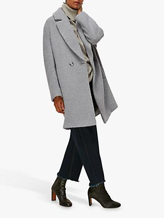 Whistles Boucle Textured Coat
